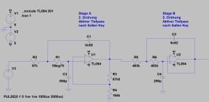 300 Hz Tiefpassfilter in der Spice-Simulation