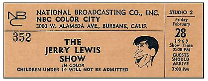 Jerry Lewis event ticket