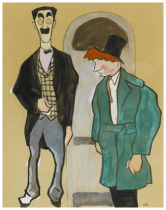 Groucho and Harpo Marx by William Auerbach Levy