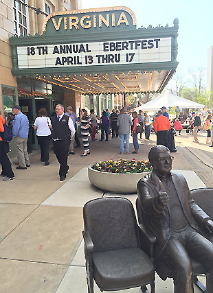 Roger Ebert Thumbs Up Statue