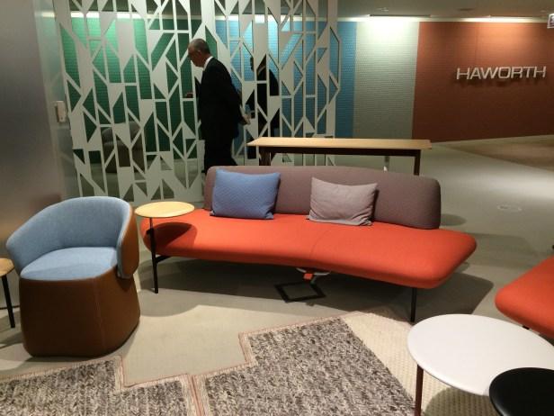 The classically elegant Haworth showroom