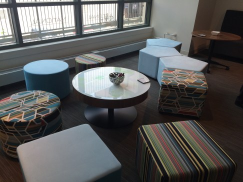 The National showroom had some whimsical & colorful furniture.
