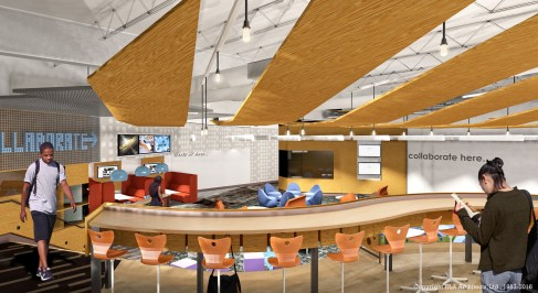 Student design input shapes new collaboration space at Lake Zurich High School