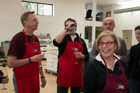Checking the sugar content with a refractometer (Steve Wright, Peter Pontarelli, Lydia Lutzow, Ilir Shallo)