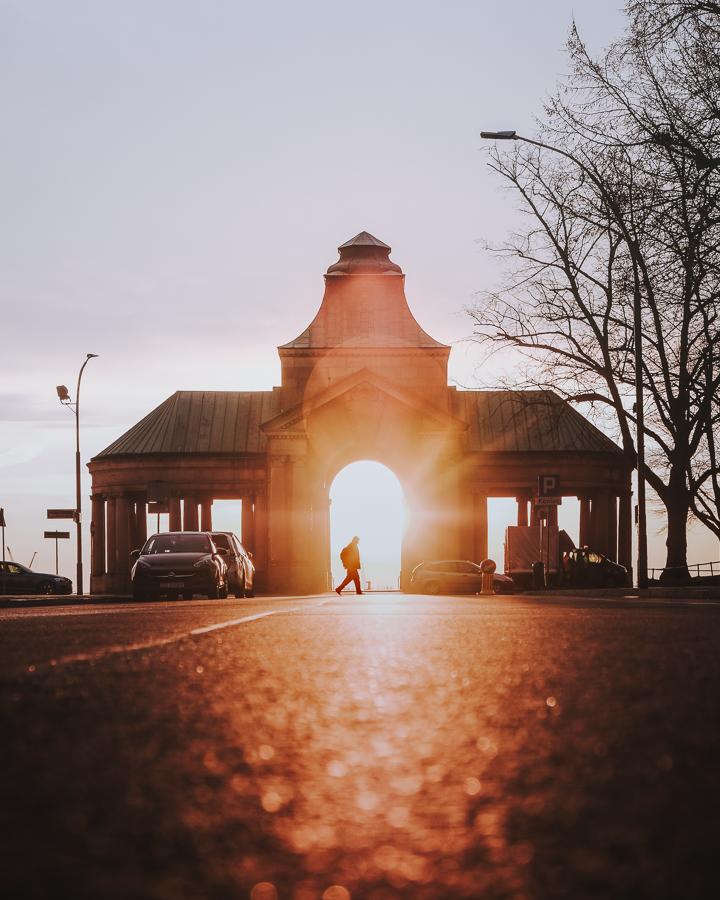 Wały Chrobrego o wschodzie słońca
