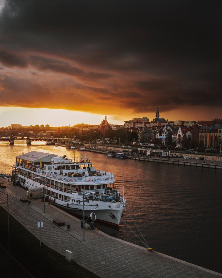 jesień Szczecin odra