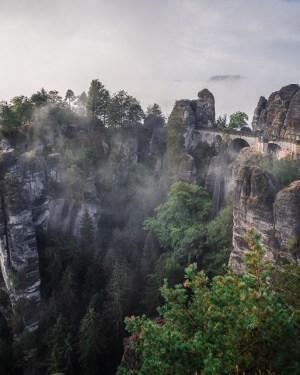 plakat fotograficzny góry bastei