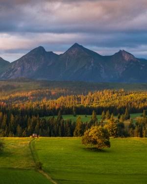plakat fotograficzny góry Łapszanka