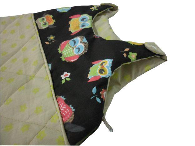 saquinho de dormir infantil estampado de corujinha
