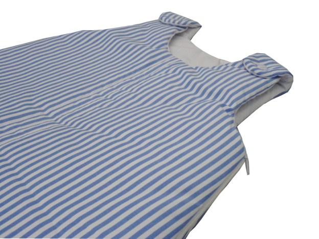 saquinho de dormir infantil listrado azul