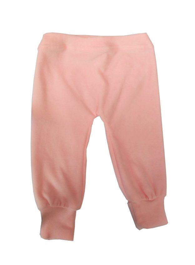 calça para bebê em plush rosa claro
