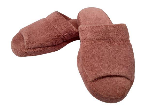 chinelo de quarto rosa amora com sola antiderrapante