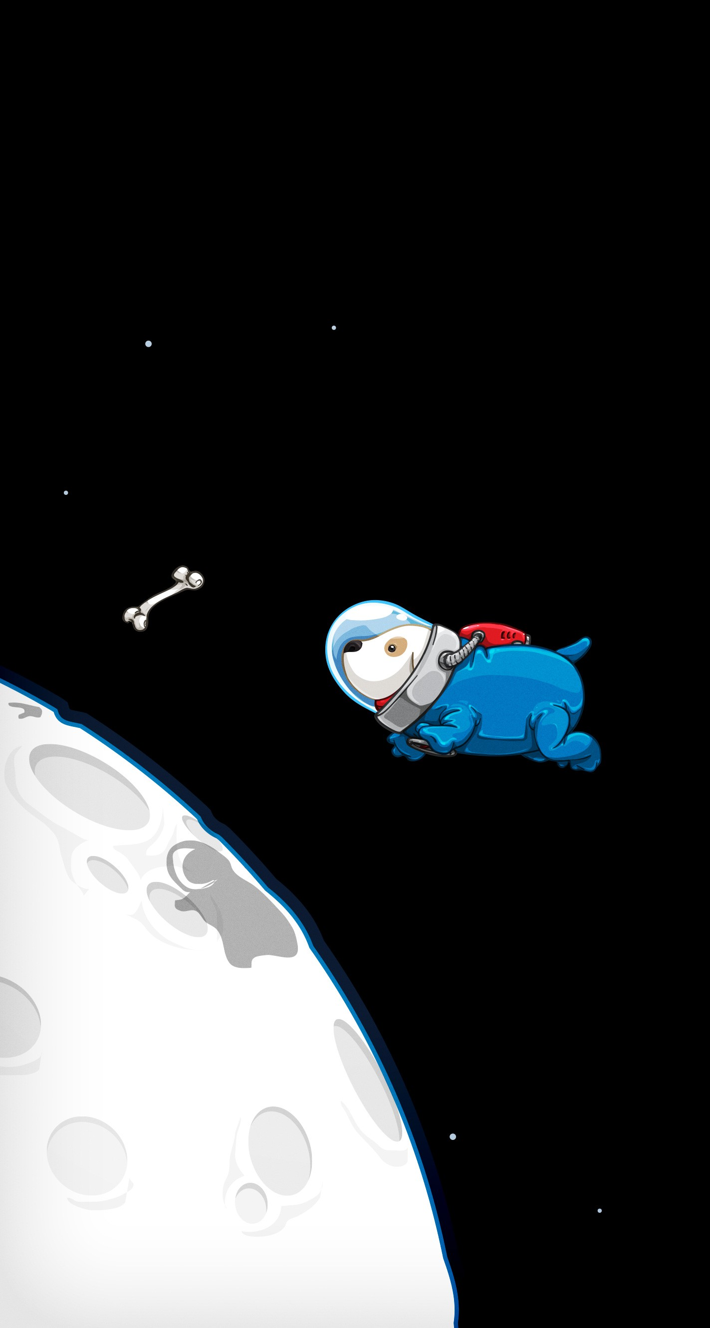 Wallpaper Cute Little Girl Cartoon David Lanham Space Doggy