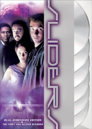 """Sliders is an American science fiction and fantasy television series created by Robert K. Weiss and Tracy Tormé. It was broadcast for five seasons between 1995 and 2000. The series follows a group of travelers as they use a wormhole to """"slide"""" between different parallel universes. Tormé, Weiss, Leslie Belzberg, John Landis, David Peckinpah, Bill Dial and Alan Barnette served as executive producers at different times of the production. For its first two seasons it was produced in Vancouver, British Columbia, Canada. It was filmed primarily in Los Angeles, California, USA in the last three seasons."""