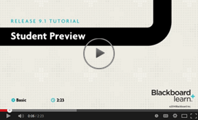 Student Preview – NEW feature in Blackboard