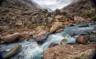 Springtime in the Andes means strong glacial flow