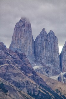 The iconic towers at Torres del Paine