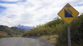 Maybe not quite as steep as these humorous vandals make it seem
