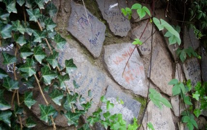 More expressions of love on an old stone wall