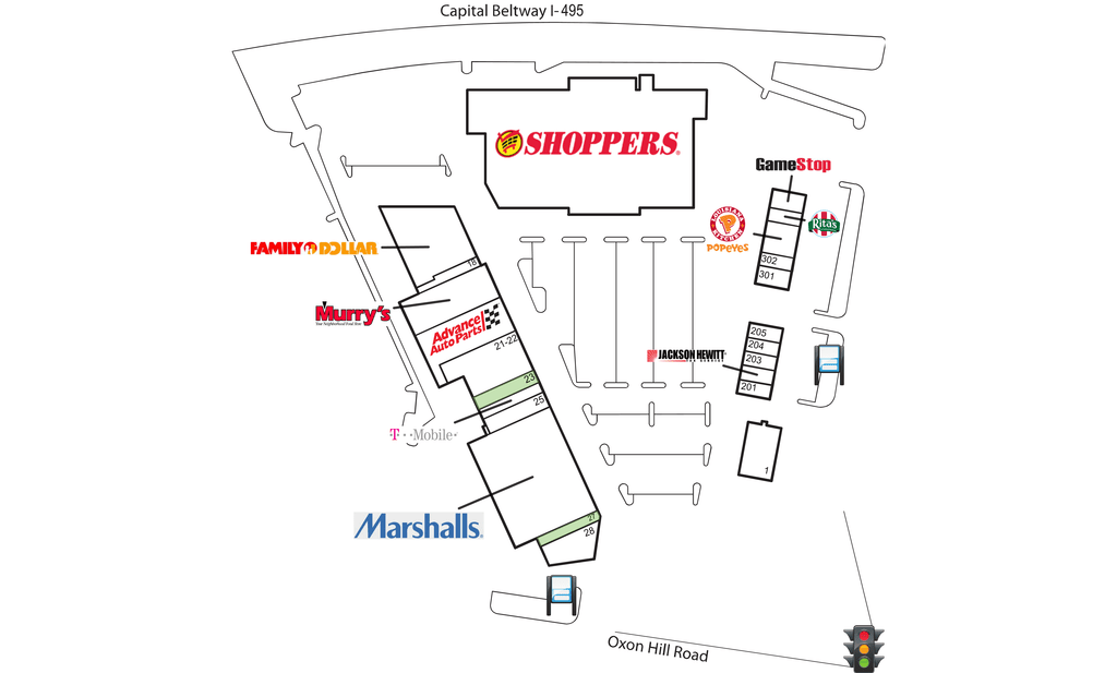 Oxon Hill Md Oxon Hill Plaza  Retail Space For Lease  Dlc