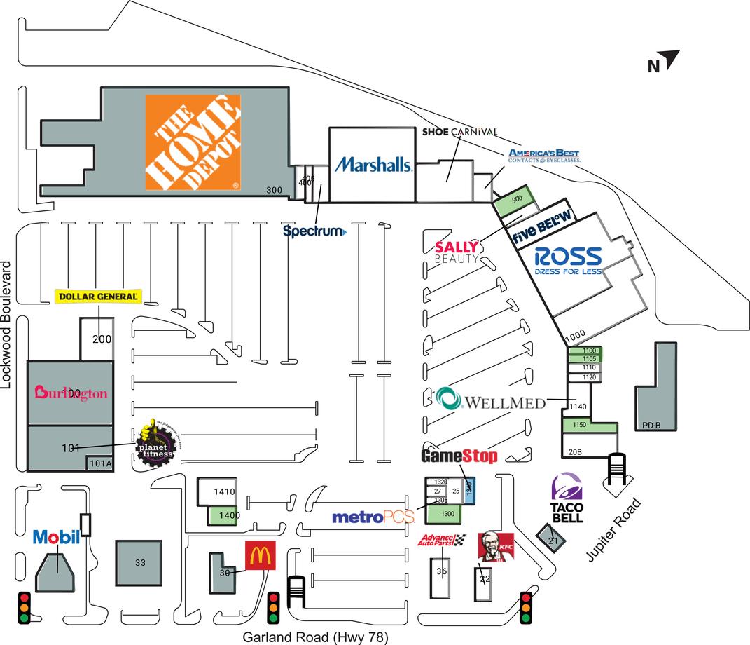 Dallas Tx Whiterock Marketplace  Retail Space For Lease