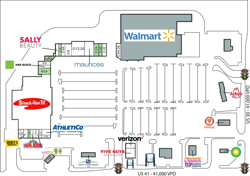 Schererville In Crossroads Shopping Center  Retail Space