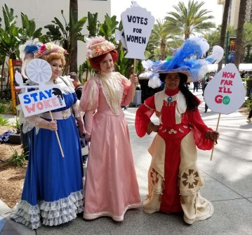 Wondercon 2018 Suffragettes