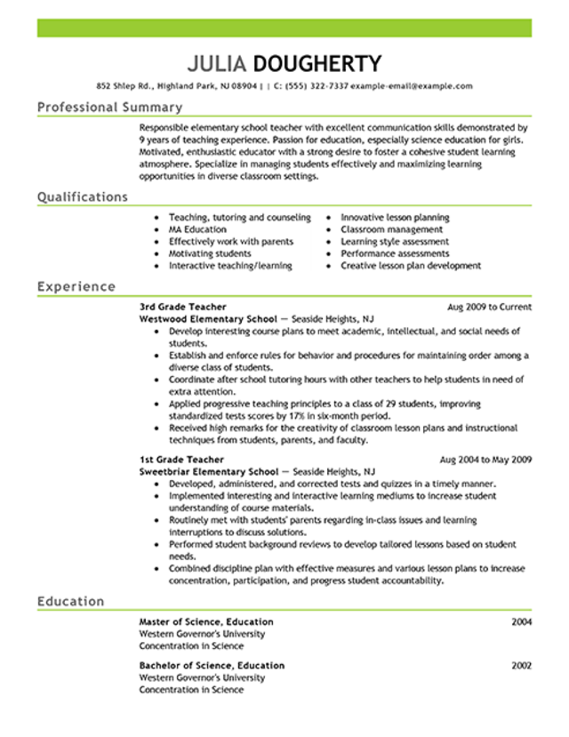 computer science teacher resume templates - Resume Computer Science Teacher