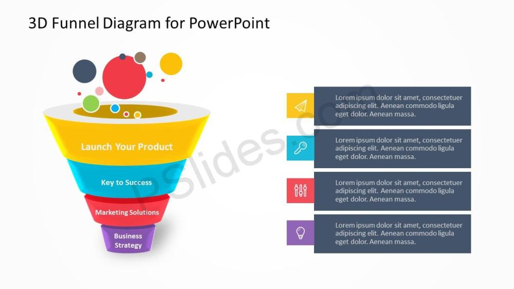 medium resolution of funnel diagram powerpoint template free to download