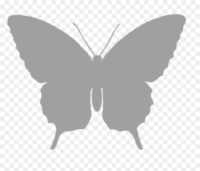 Silhouette Butterfly Clipart Black And White