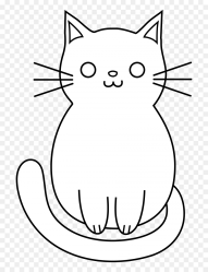 Simple Cat Clipart Black And White HD Png Download 728x1040 PNG DLF PT