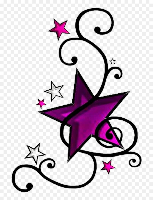 Star Tattoo Png : tattoo, Stars, Tattoo, Purple, Black, Vines, Sticker, Tattoo,, Download, 740x1039, DLF.PT