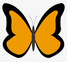 Orange Butterfly Clipart Transparent Background HD Png Download 1969x1750 PNG DLF PT