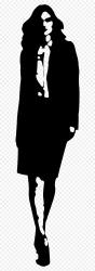 Girl Clipart Walking Walking Woman Clipart Hd HD Png Download 578x2353 PNG DLF PT