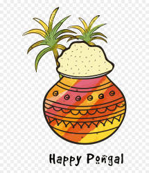 Transparent Pongal Pineapple Ananas Fruit For Thai Pongal Pot Outline HD Png Download 600x916 PNG DLF PT