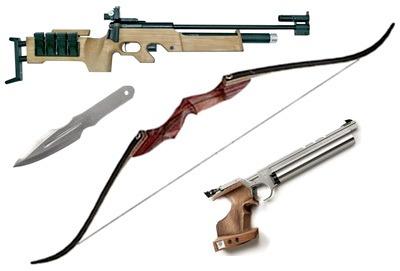 Спортивное оружие. Виды и применение. Особенности