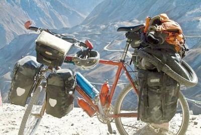 Turisticheskoe snariazhenie na velosipede