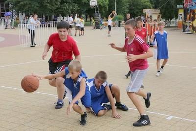 Ulichnyi basketbol dlia detei
