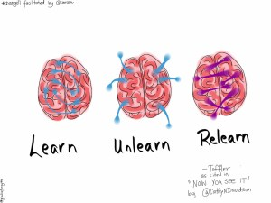 Learn, Unlearn, Relearn by Giulia Forsythe cc licensed via Flickr