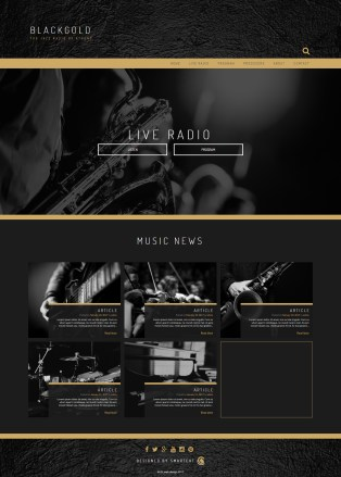 Jazz radio demo website