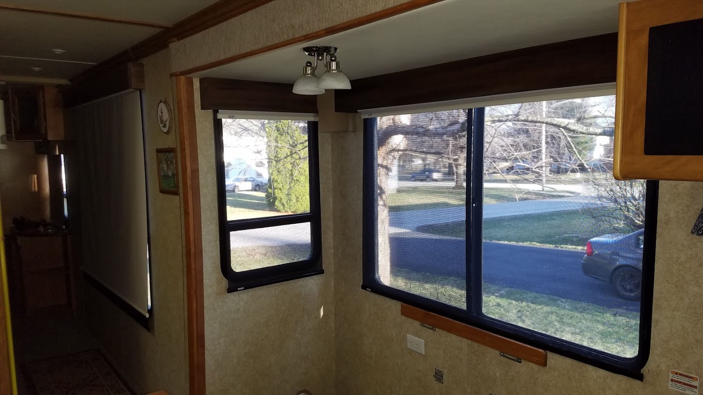 Rv Open Roads Forum Pleated Blind And Fabric Covered