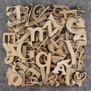 20cm high individual wooden letters