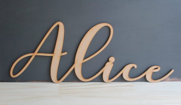 Personalised Custom Cut 6mm Thick Names