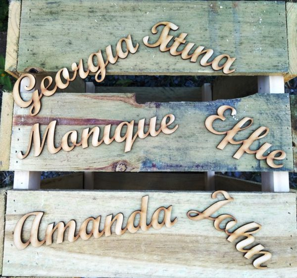 Personalised Custom Cut 3mm Thick Names