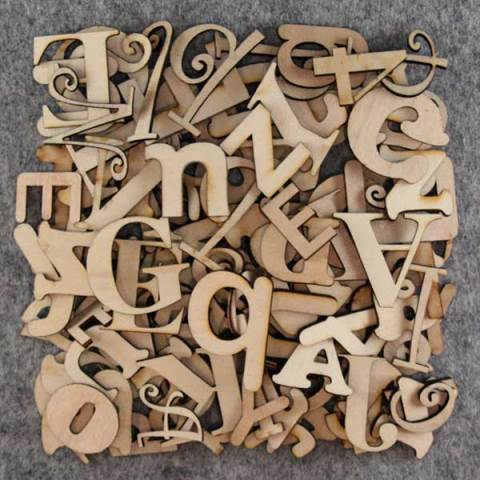 40cm High Individual Wooden Letters