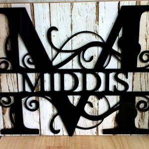 Split Letter Monogram Sign