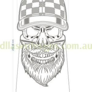 Bearded Skull 3D Illusion Vector File
