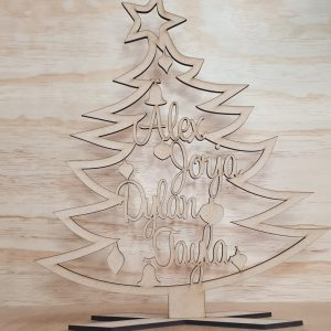 Personalised Christmas Tree Plaque