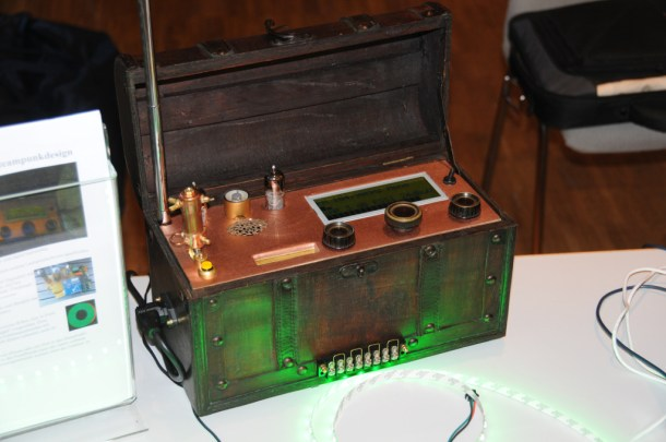 Steampunk radio from Olaf at Arduino Group Hannover