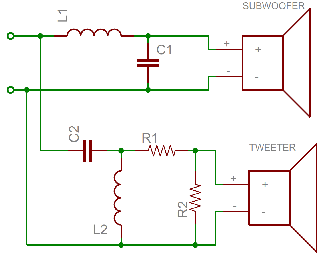 active crossover wiring diagram christmas origami 4 way schematic circuit